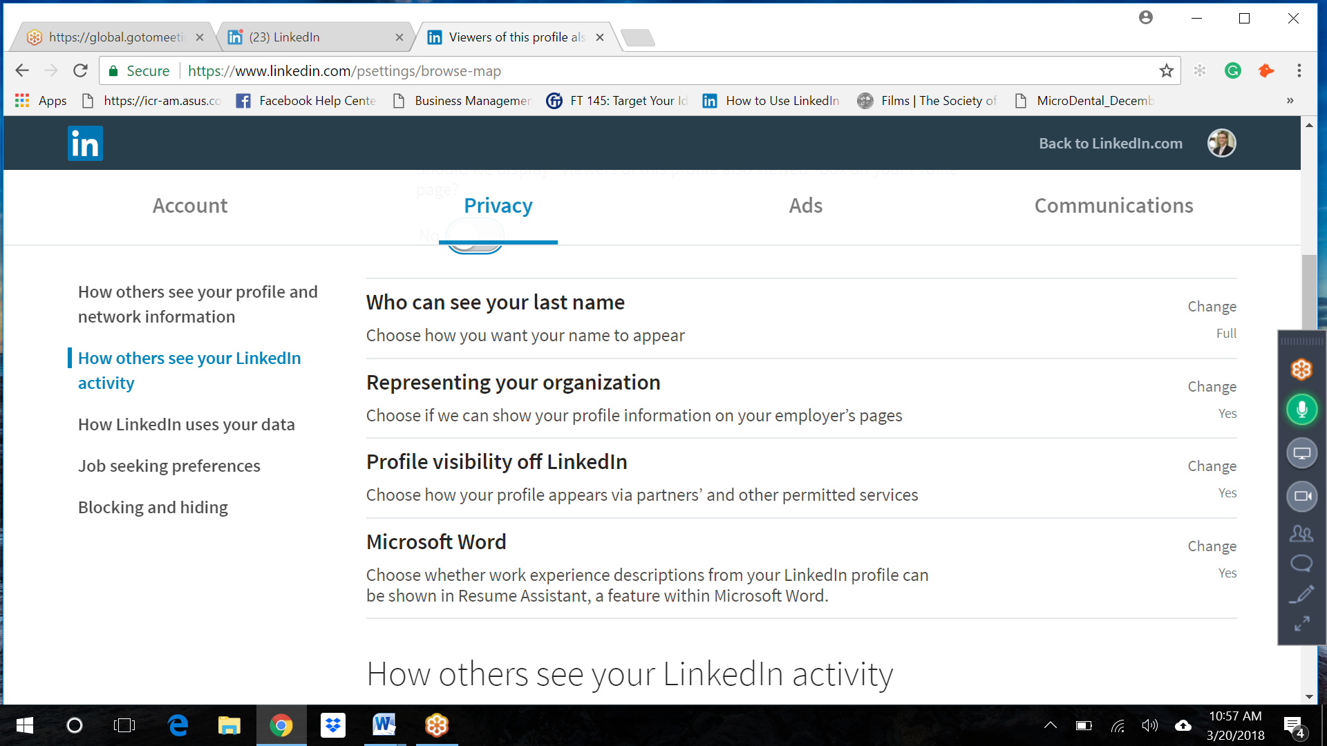 Should You Change This Linkedin Privacy Setting Since Microsoft Word