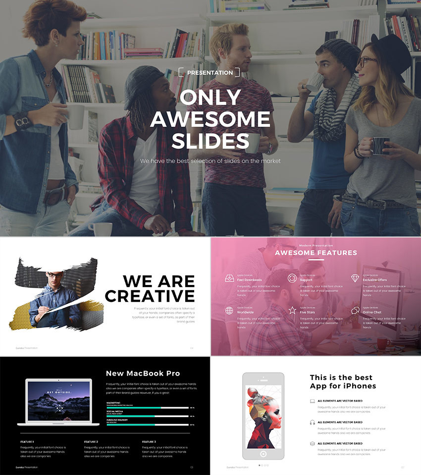 15 best powerpoint templates 2018 best themes pulse linkedin eureka is a cool powerpoint template with a modern design creative slides and a minimal sophistication it has an awesome assortment of dazzling styles toneelgroepblik Image collections