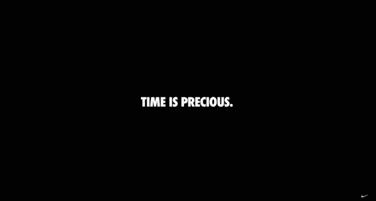Time is precious Nike ad