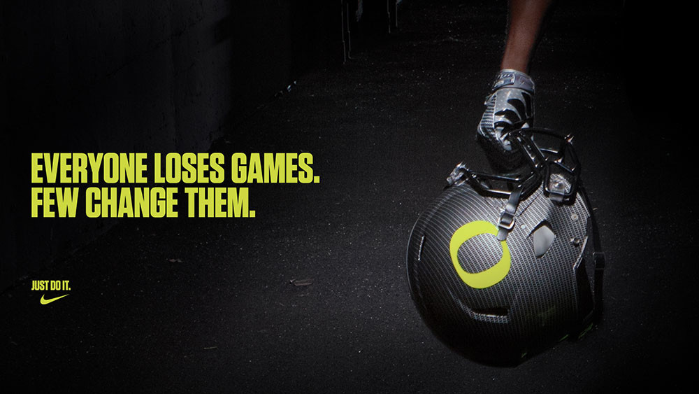 Everyone loses games, few change them Nike ad