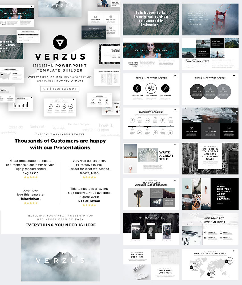 15 best powerpoint templates 2018 best themes pulse linkedin this versatile ppt template has many stand out slides with a minimal design aesthetic its one of the best looking powerpoint templates toneelgroepblik Image collections