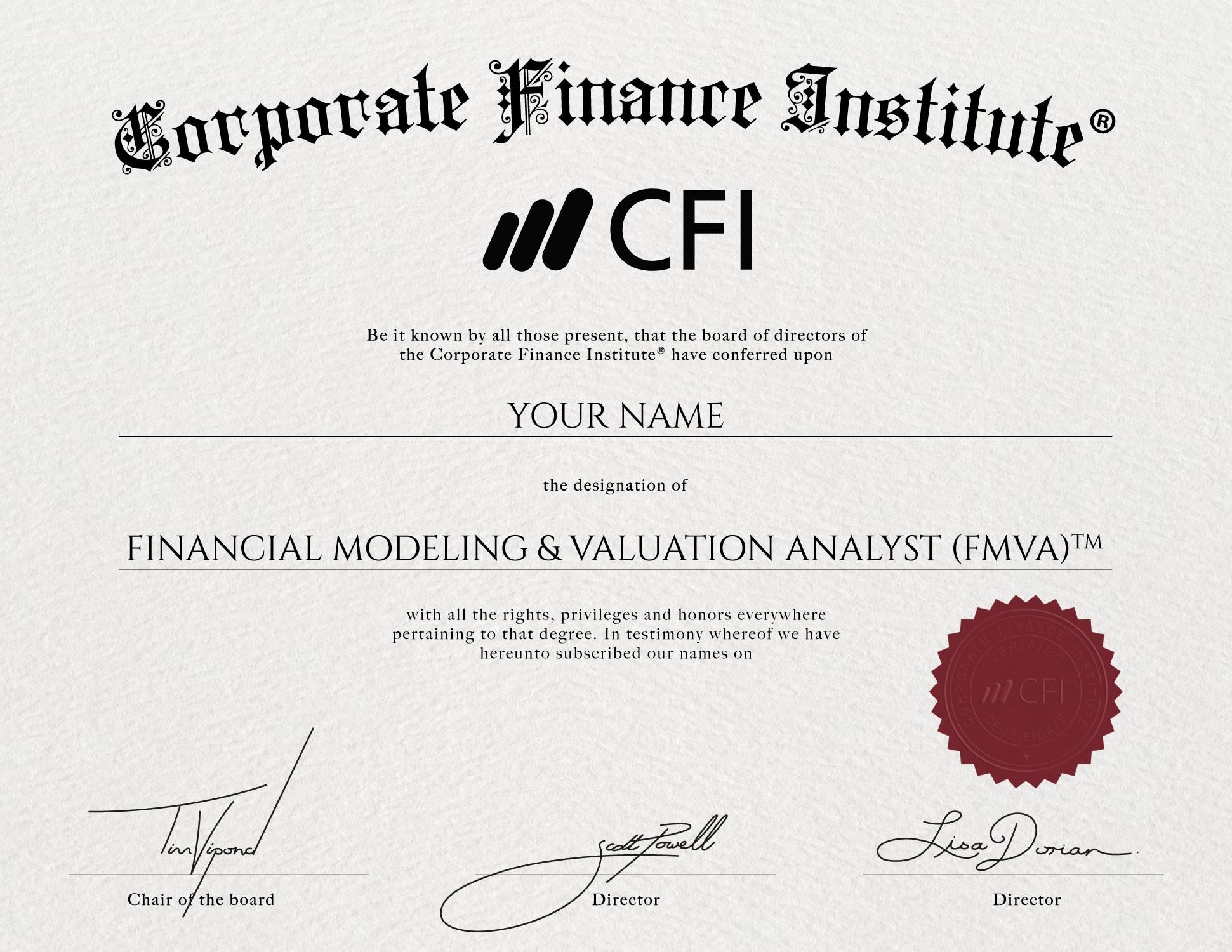 Financial Modeling & Valuation Analyst (FMVA)® Certification | LinkedIn