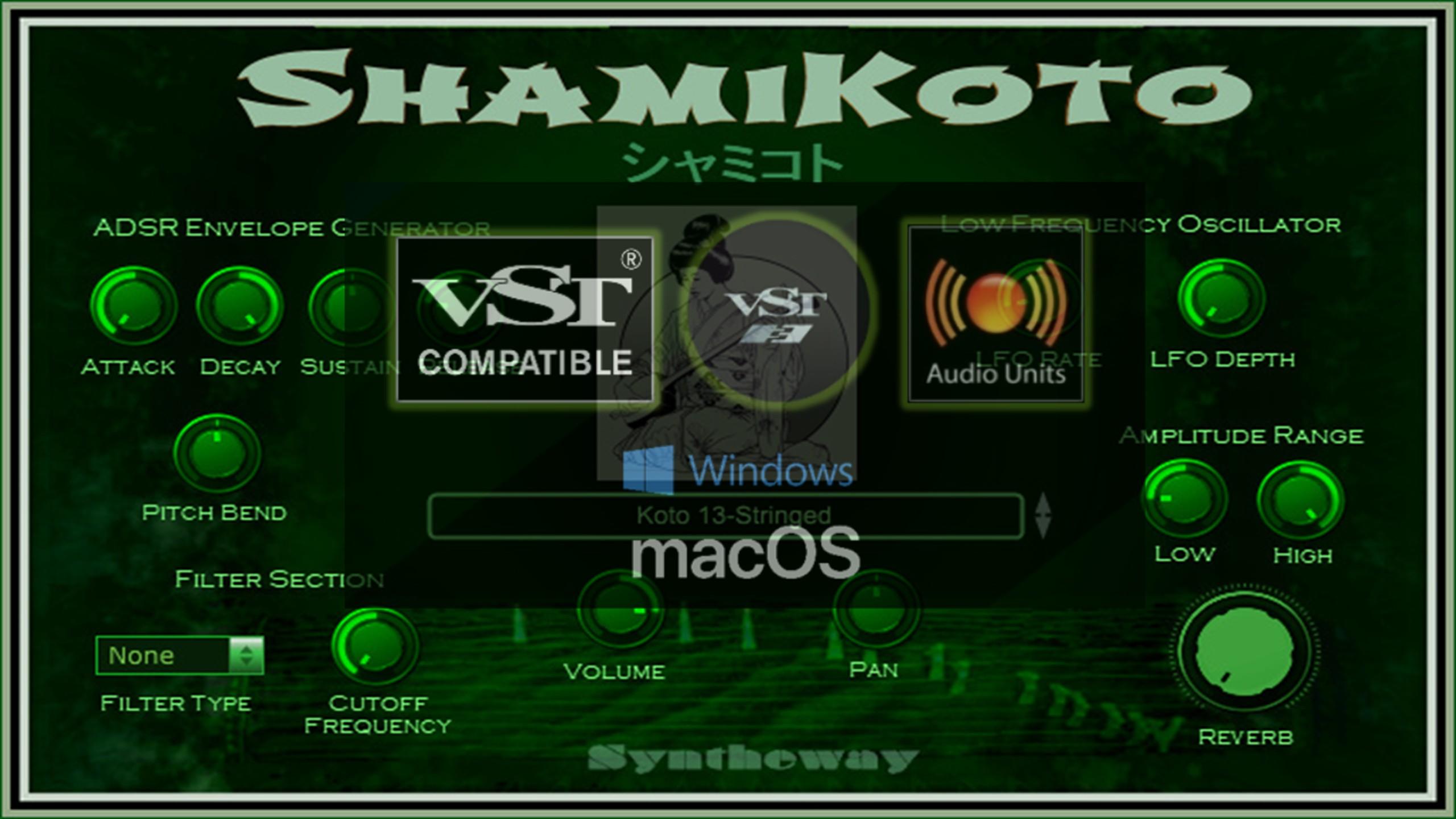 ShamiKoto Virtual Koto and Shamisen VST VST3 Audio Unit
