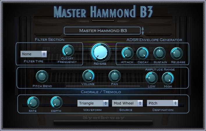 Master Hammond B3 Organ VST, VST3, Audio Unit Plugins +