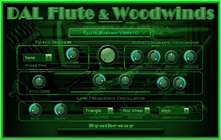 DAL Flute & Woodwinds VST VST3 Audio Unit Plugins plus EXS24 and