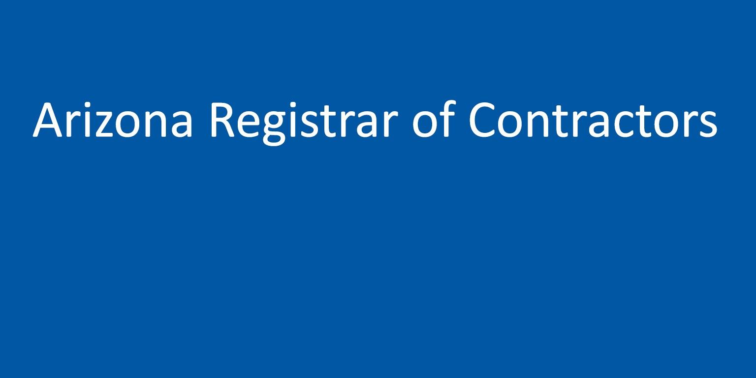 Top Five Registrar Of Contractors Arizona - Circus