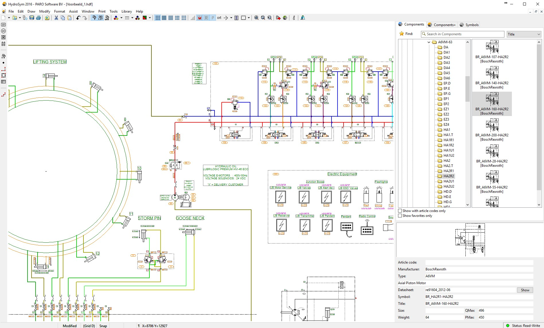HydroSym - Software For Designing Hydraulic Schematics
