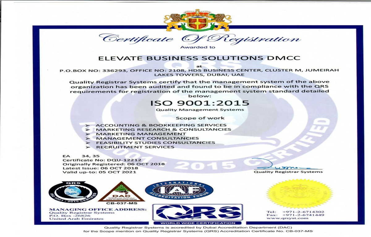Elevate Business Solutions DMCC & Elevate First Accounting
