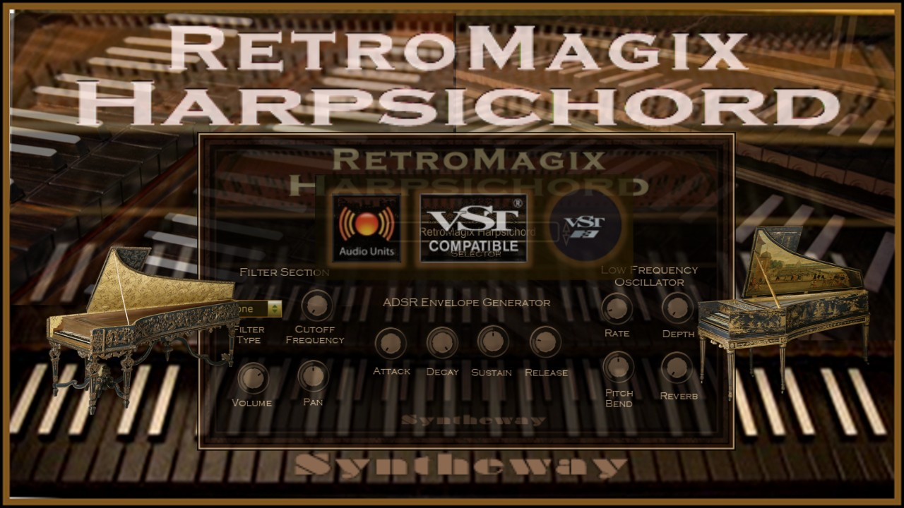 RetroMagix Harpsichord VST VST3 Audio Unit Plugins EXS24 +