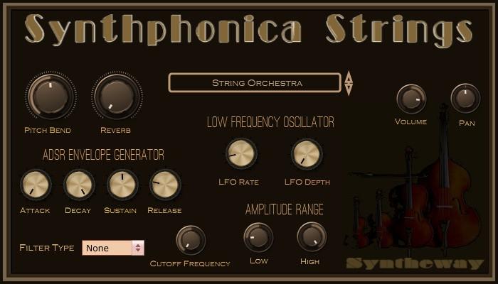 Synthphonica Strings VST, VST3, Audio Unit  String Ensemble, Solo