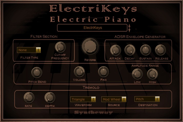 ElectriKeys Electric Piano VST VST3 Audio Unit EXS24 KONTAKT