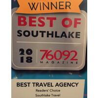SOUTHLAKE TRAVEL - Best Travel Agency - Readers Choice Award 2018