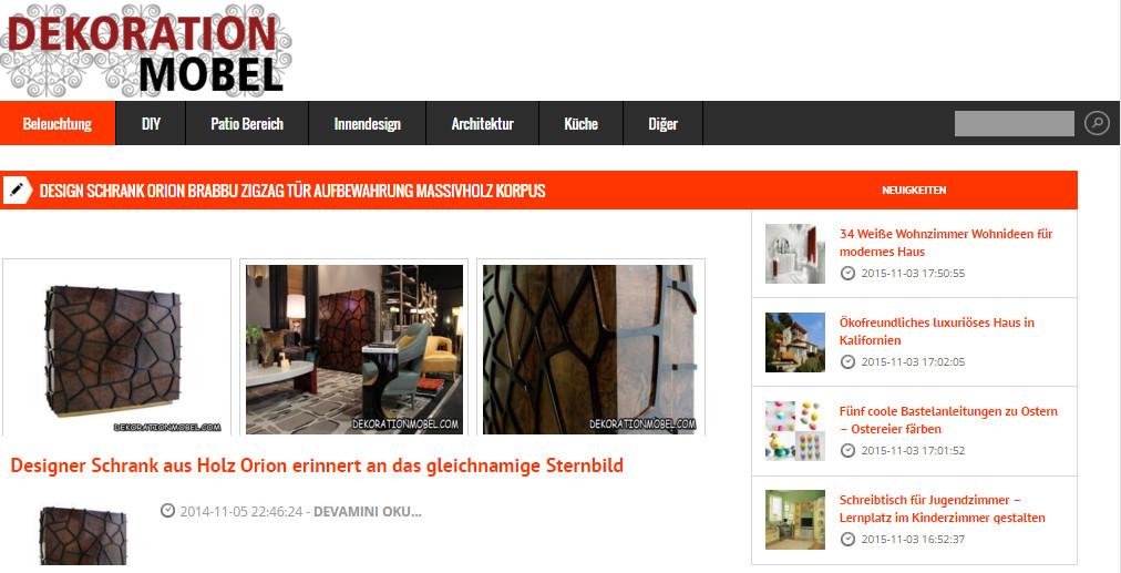 Designer-Möbel von Brabbu vorgestellt in den deutschen Medien ...