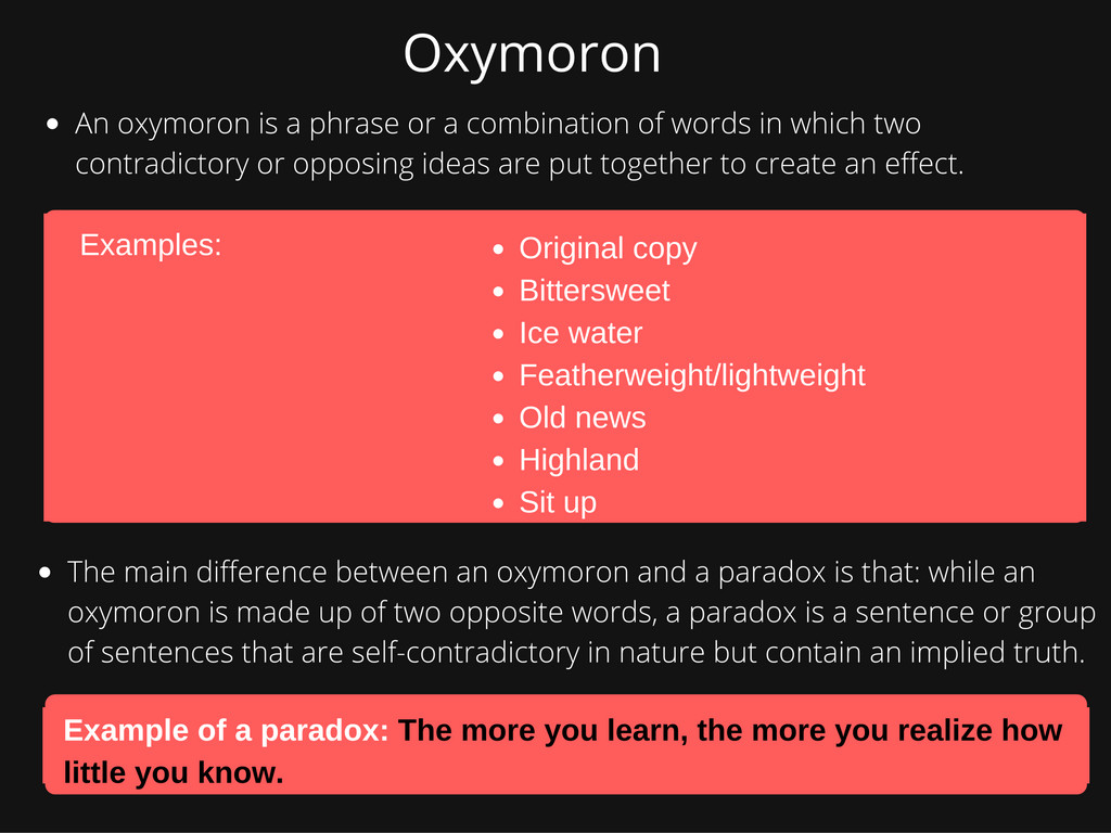 Example Sentence Of Oxymoron Choice Image Example Cover Letter For