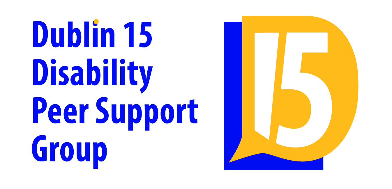 New logo for Dublin 15 Disability Peer Support Group - see caption for description