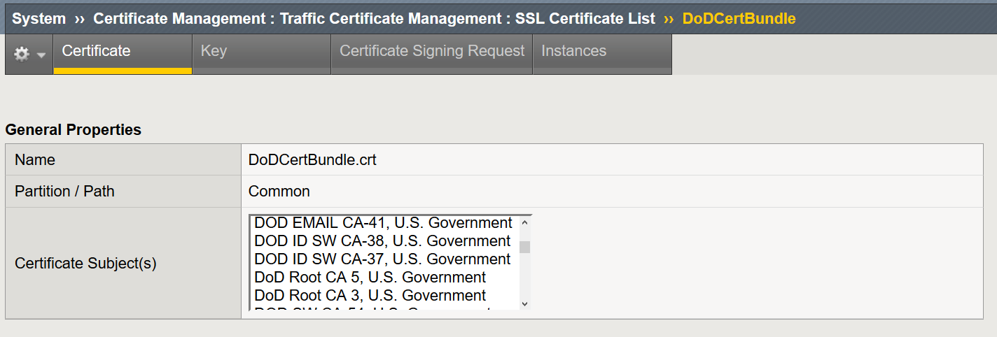 Creating, Importing and Assigning a CA Certificate Bundle