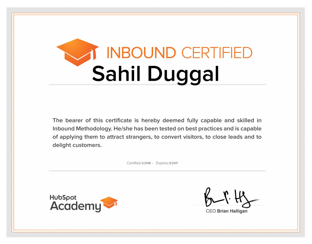 Inbound Certified Marketing Expert in Toronto   Hubspot Academy ...