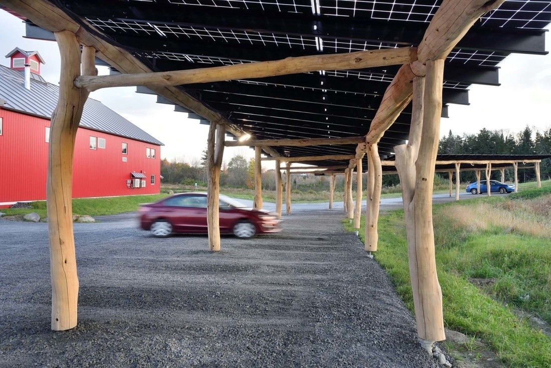 WholeTrees Structures   WholeTrees Solar Carports