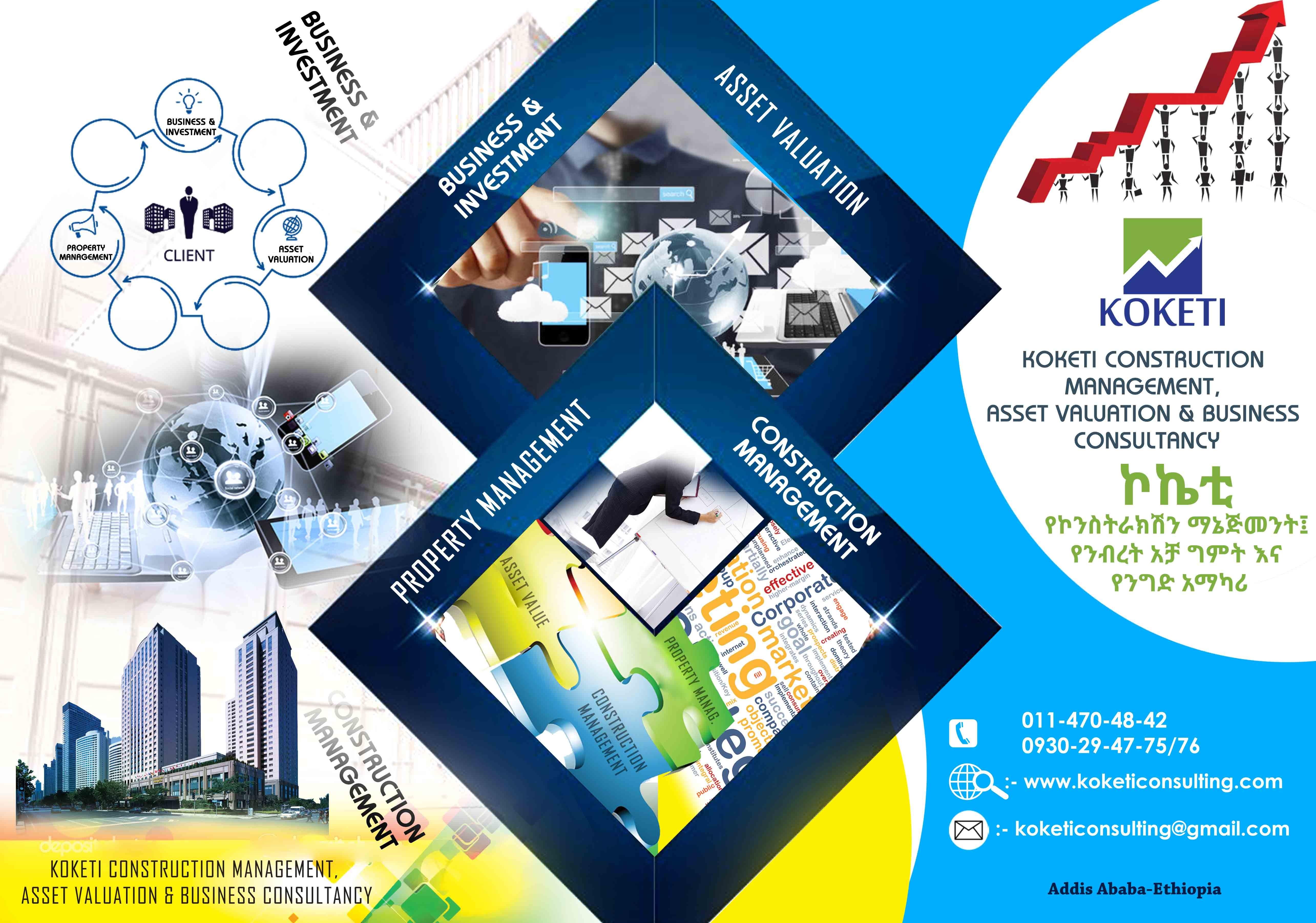 KOKETI Construction Manangement,Asset Valuation & Business