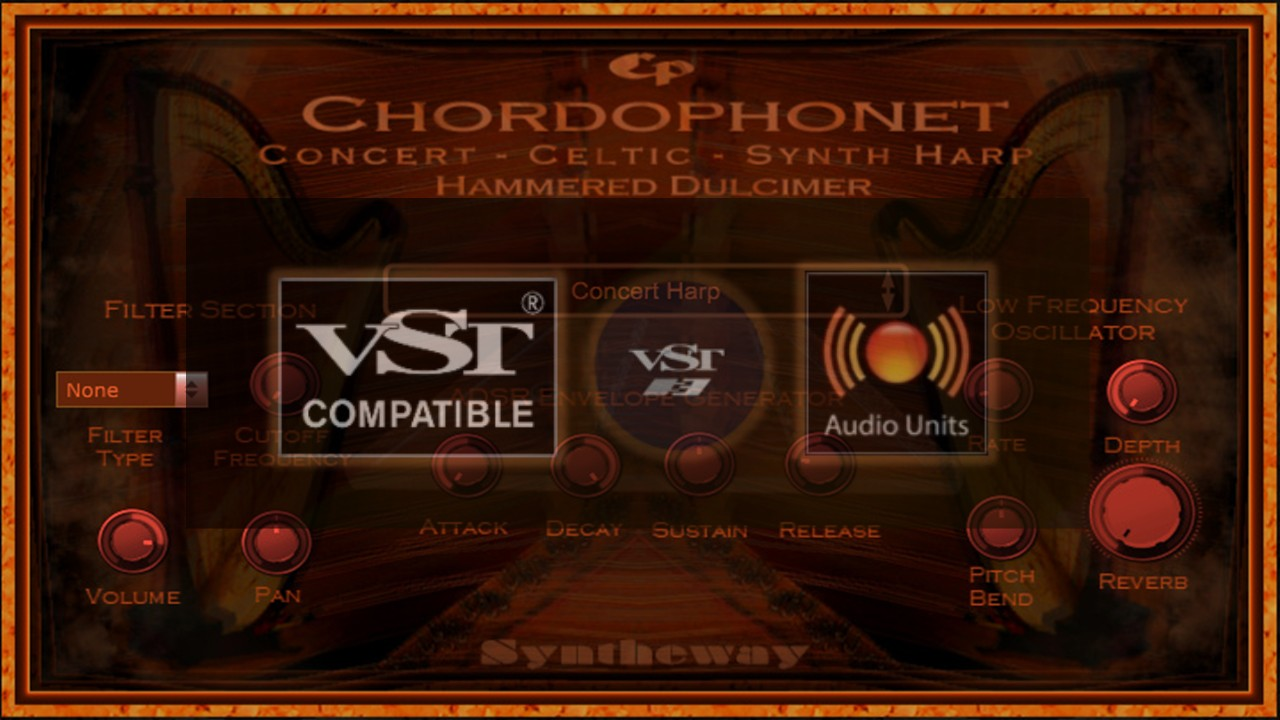 Chordophonet Virtual Harp & Hammered Dulcimer VST VST3 Audio