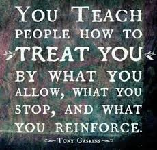 Image result for we teach people how to treat us