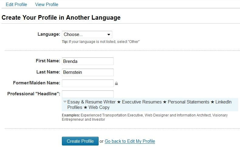 Multilingual? Create a Secondary Language Profile on LinkedIn ...
