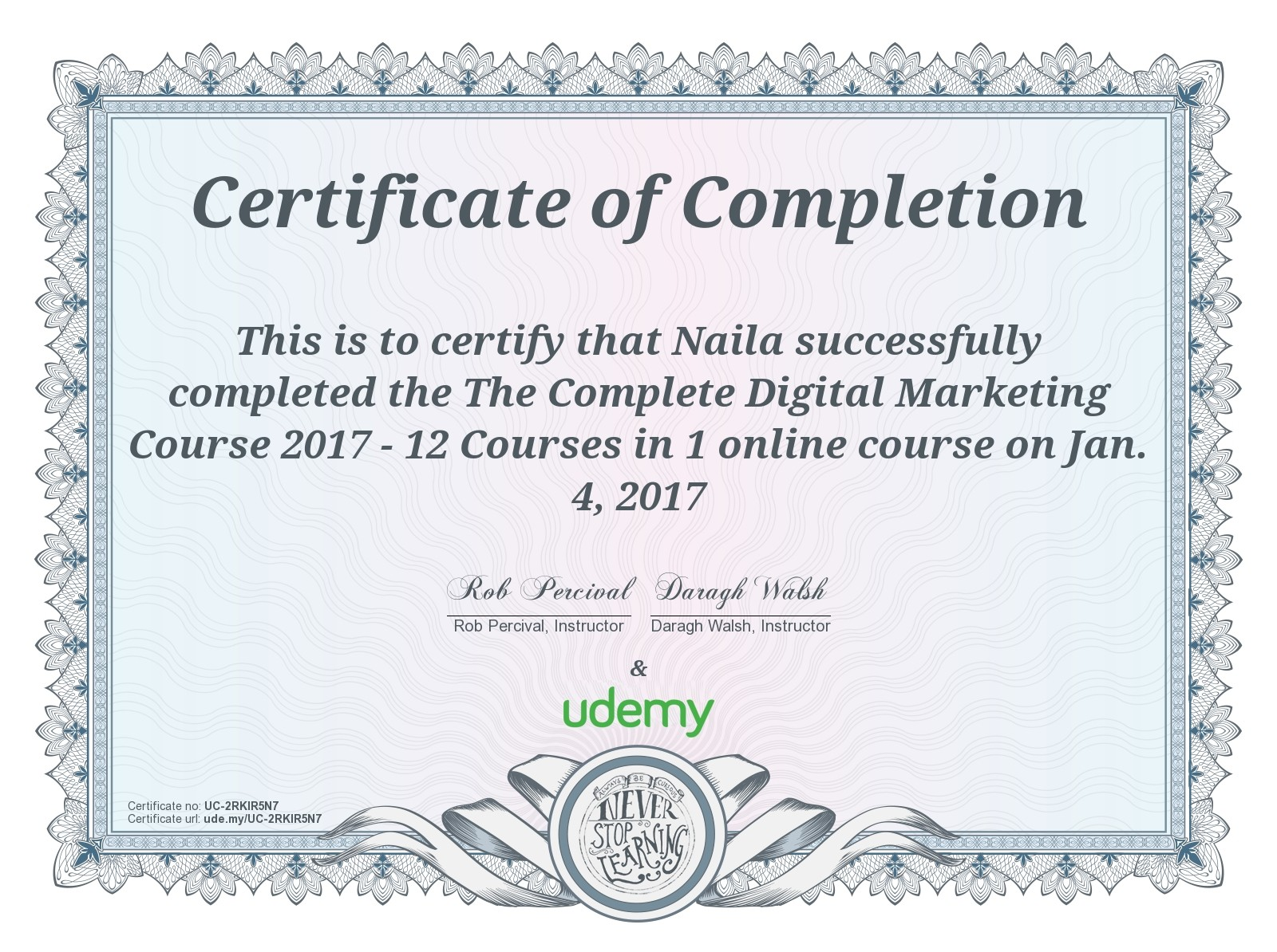 By The Grace Of Allah Complete Digital Marketing Course Naila Daud
