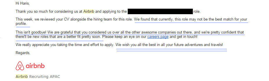 The best job rejection letter haris khan pulse linkedin i received one job application rejection email that in my opinion the best job rejection letter i have ever received without further a do here is this spiritdancerdesigns Gallery