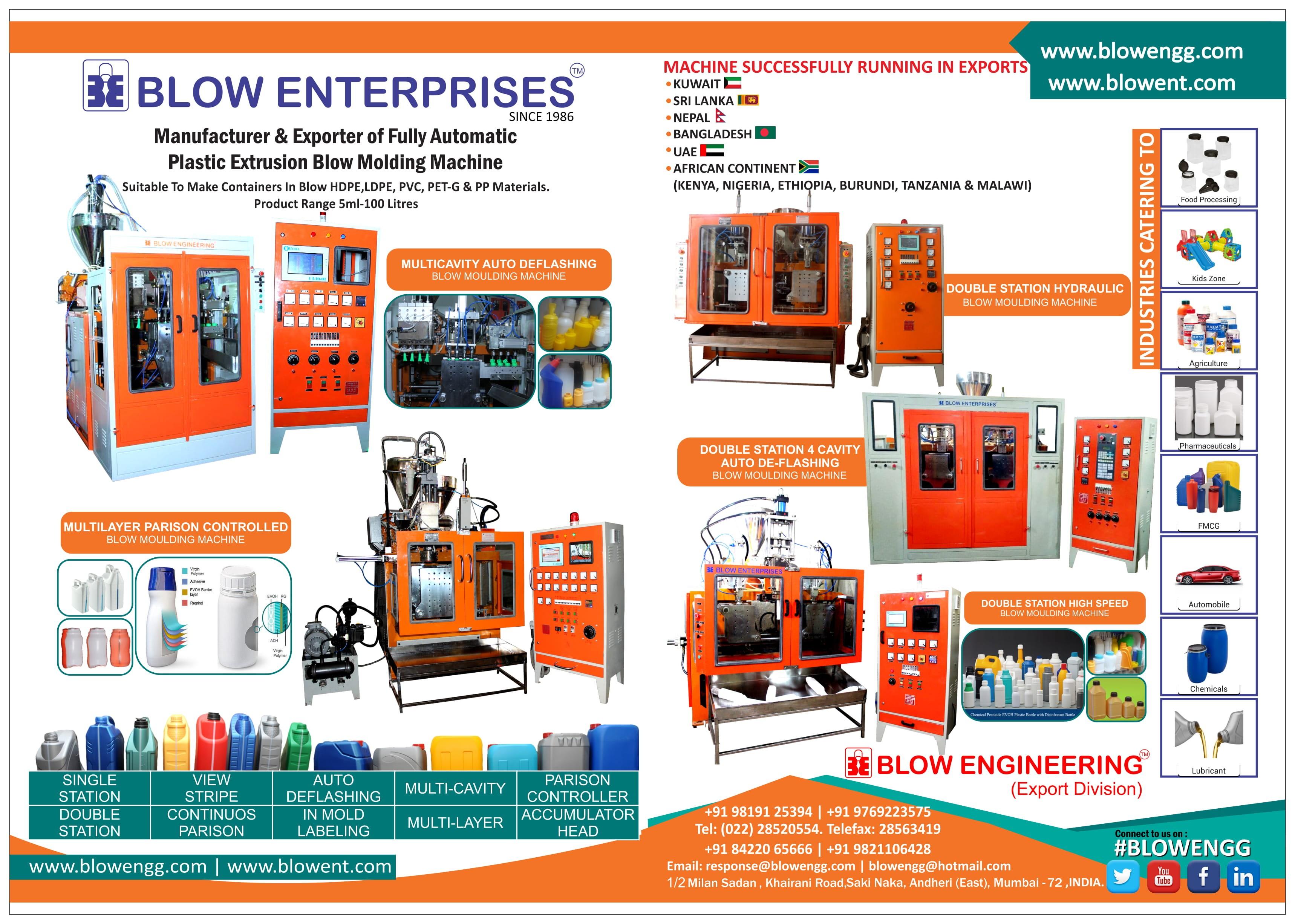 Blow Enterprises (Plastic Blow Molding Machines) | LinkedIn