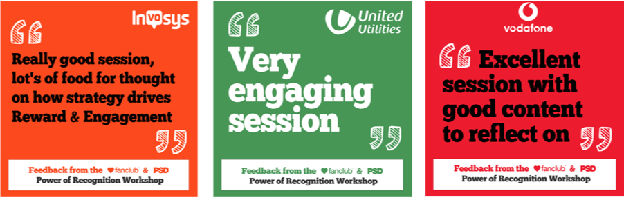 Feedback from Invosys, United Utilities & Vodafone