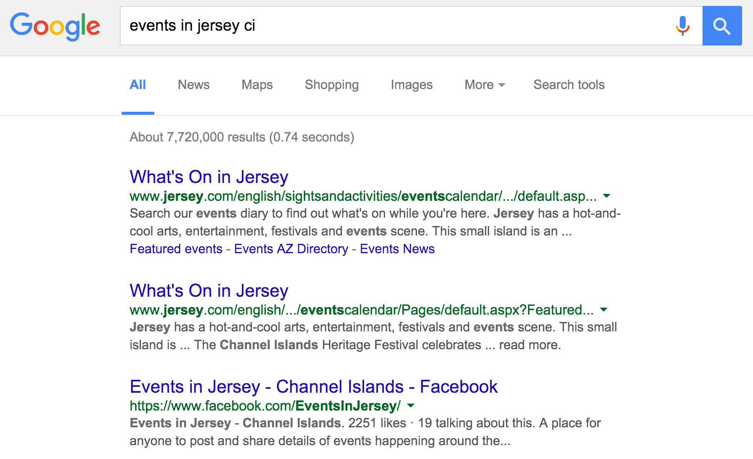 events in jersey ci on google.je