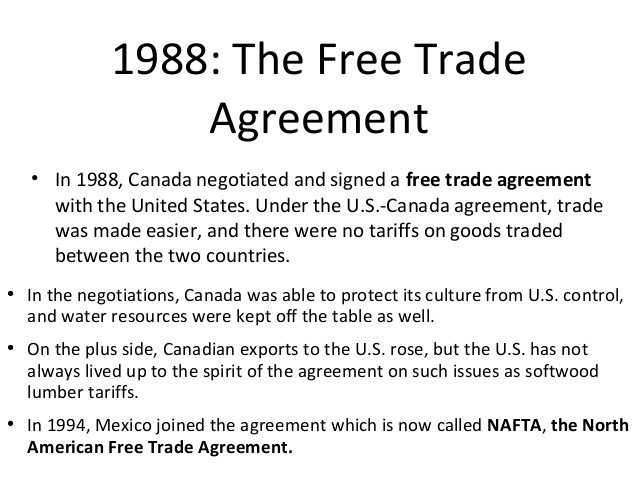 North American Free Trade Agreement Nafta Is Signed Into Law Jim