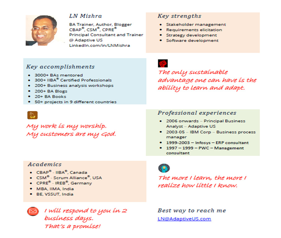 how to make your cv stand out business analysts visual resume