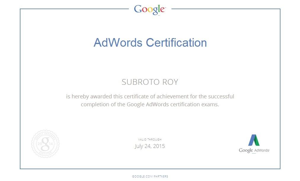 Why I took the Google AdWords exams | Subroto Roy | Pulse | LinkedIn