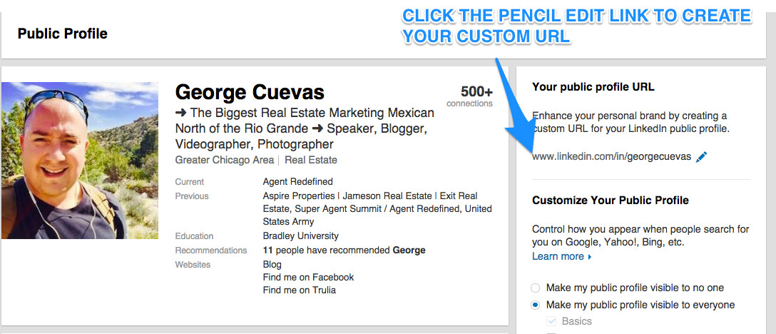 How To Set Up Your Linked Profile for Real Estate Agents | George ...