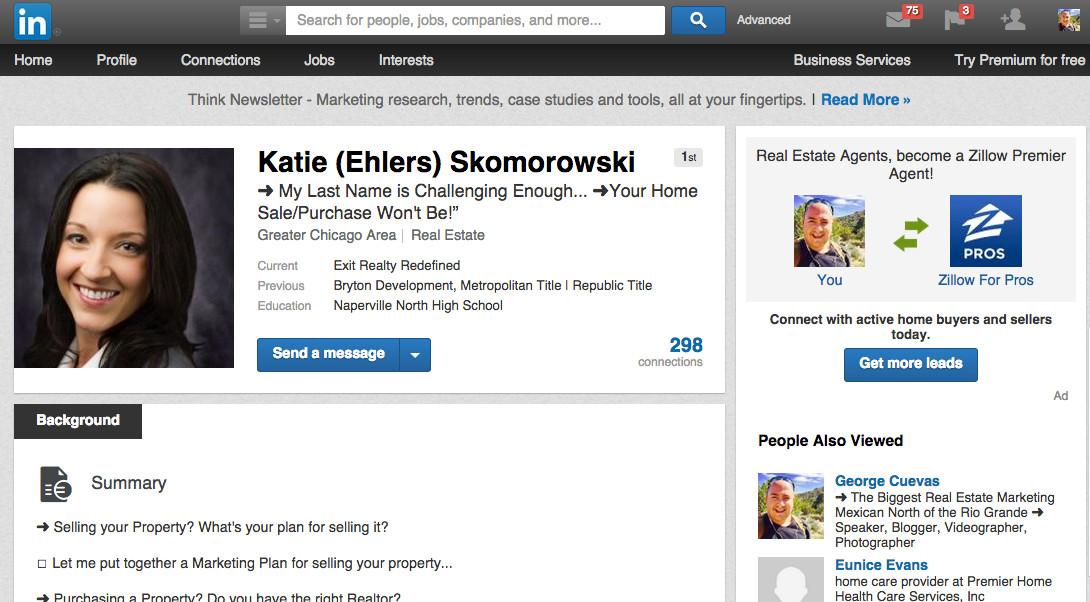 real estate agent case study katie skomorowski
