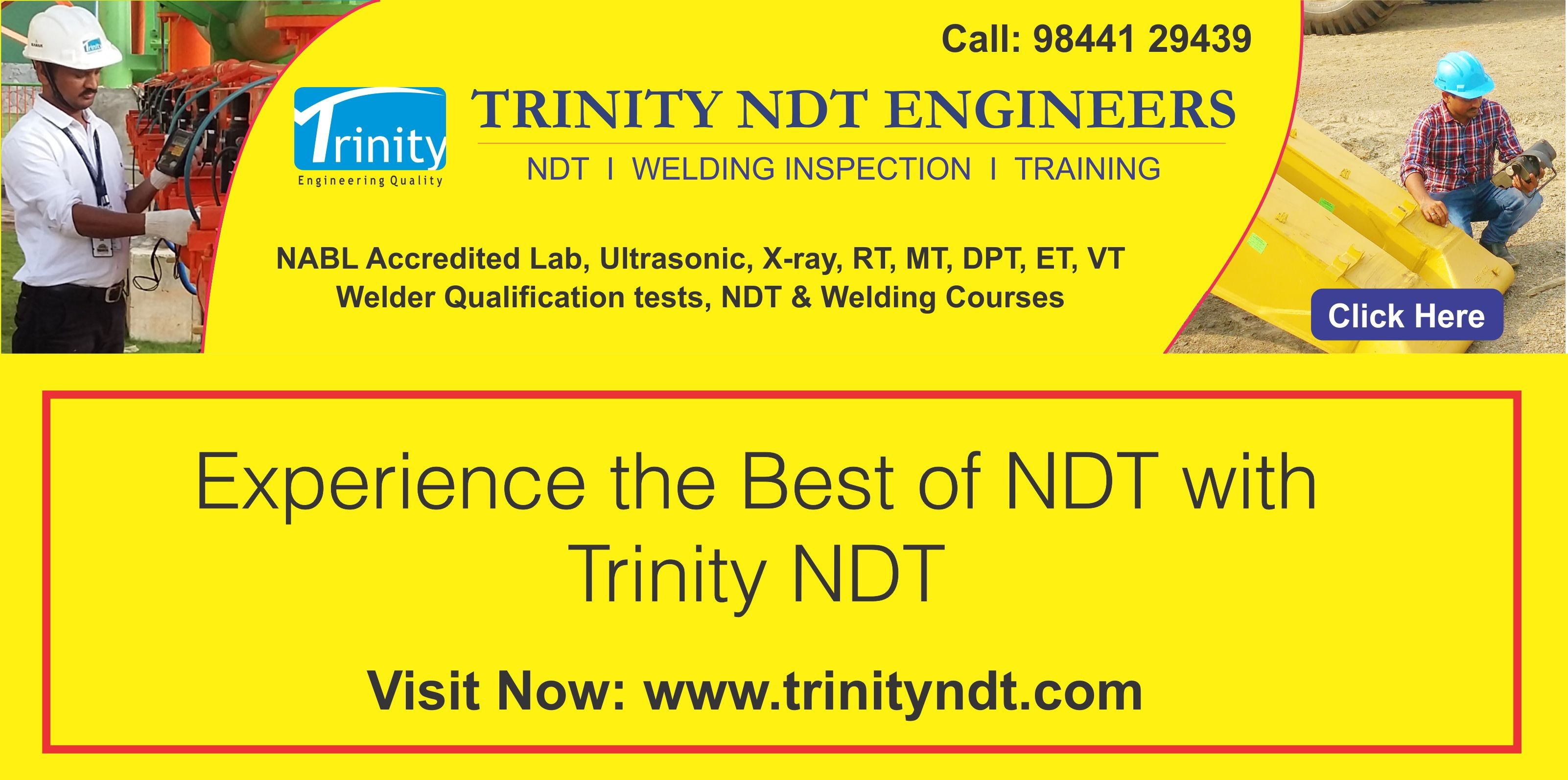 Trinity NDT - NABL Accredited NDT Labs I Welding Inspection