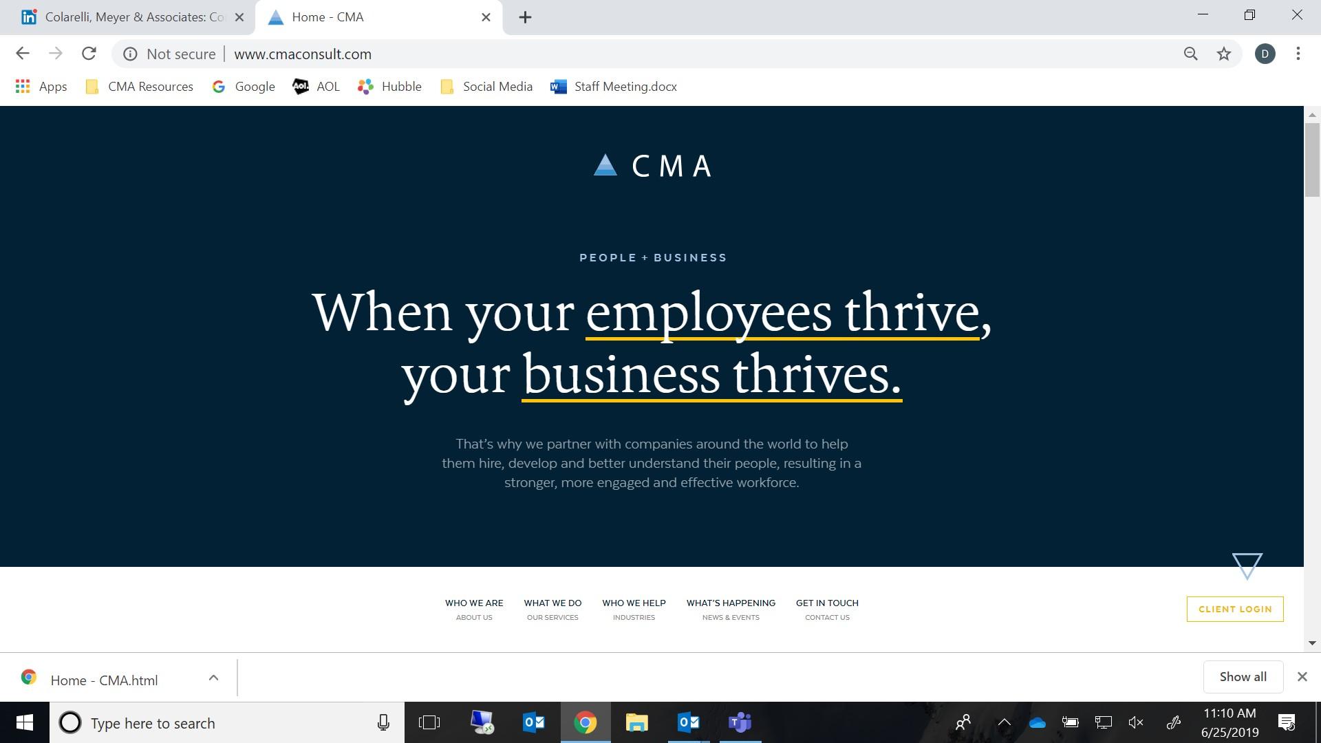 CMA (Colarelli, Meyer & Assoc )   LinkedIn