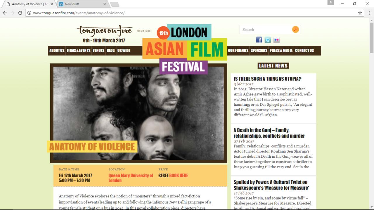 London Asian Film Festival Screening of Deepa Mehta\'s Anatomy of ...