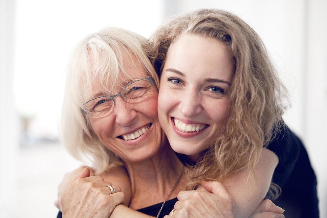 Inger Hartelius with her Daughter Tea Hartelius