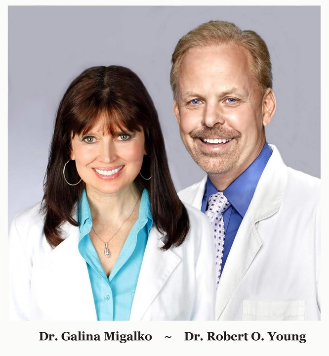 Galina MIgalko MSc, MD, NMD and Robert O Young CPT, MSc, DSc, PhD, Naturopathic Practitioner