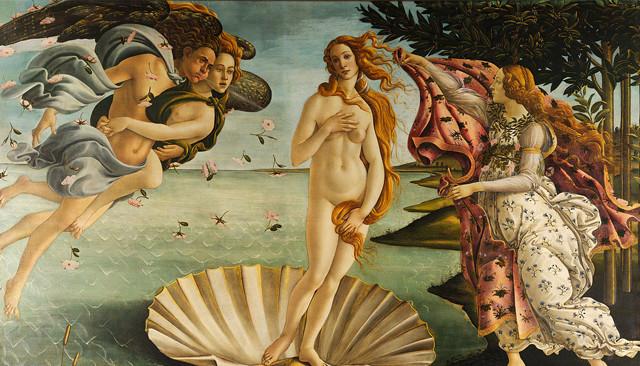 La Naissance de Vénus Tableau de Sandro Botticelli (Wikimedia commons)