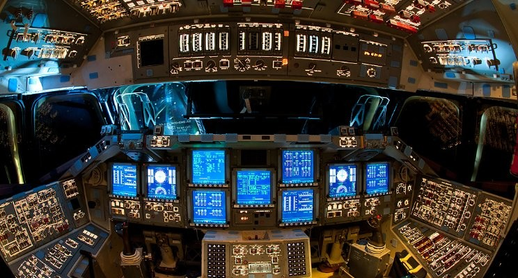 Ok, It's not as exciting as the space shuttle's cockpit but it feels that way to me!