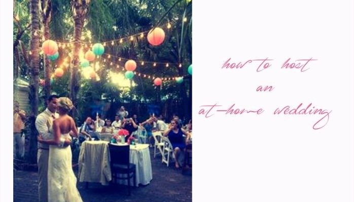 Planning at-home and backyard weddings? Here\'s a step-by-step guide ...