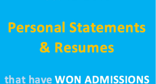 Get real life Personal Statements & Resumes that have won admissions ...