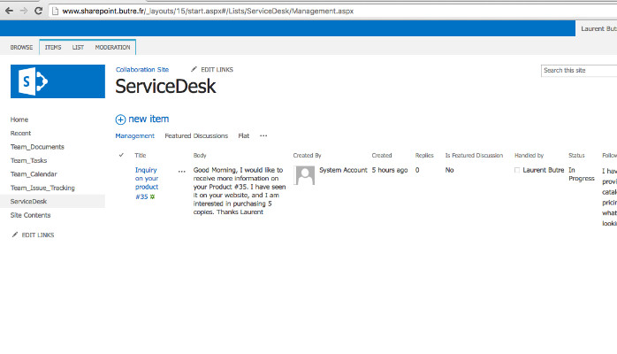 Create A Service Desk Ticketing System With Sharepoint