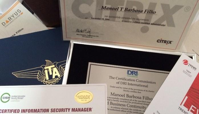 The first certification is never forgotten :-) | Manoel Barbosa ...