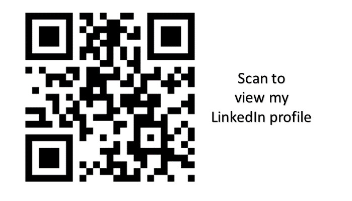 How to create a qr code for your linkedin profile karen brown how to create a qr code for your linkedin profile reheart Choice Image