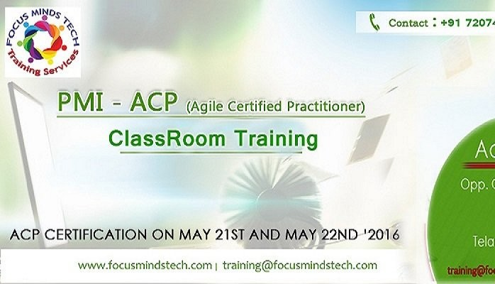 PMI - ACP (Agile Certified Practitioner) classroom training ...