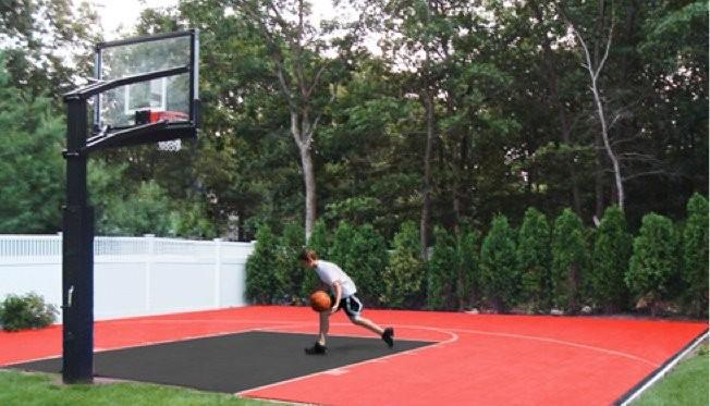How to build a backyard basketball court linkedin for How to build basketball court